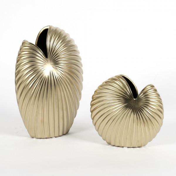 Keramik Rillen-Vase Alessia