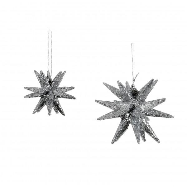 Dekohänger Sputnik Kunststoff, beglitter