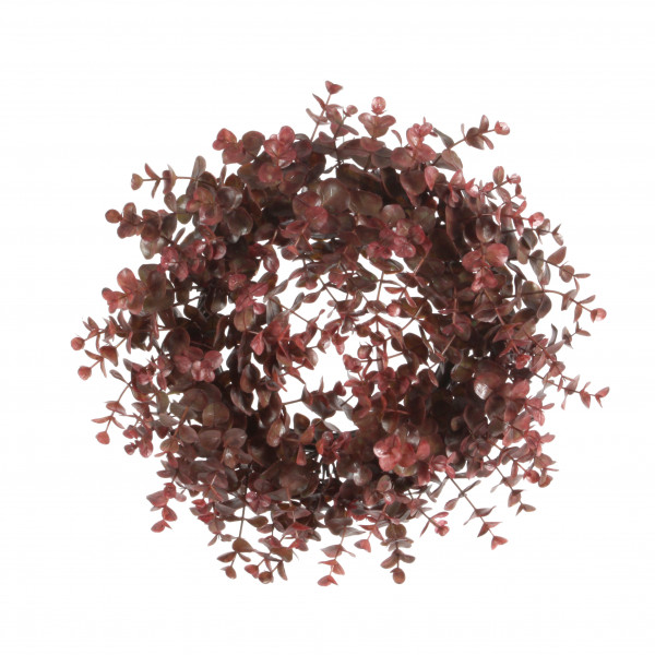 Eucalyptus-Kranz, 15cm, rot