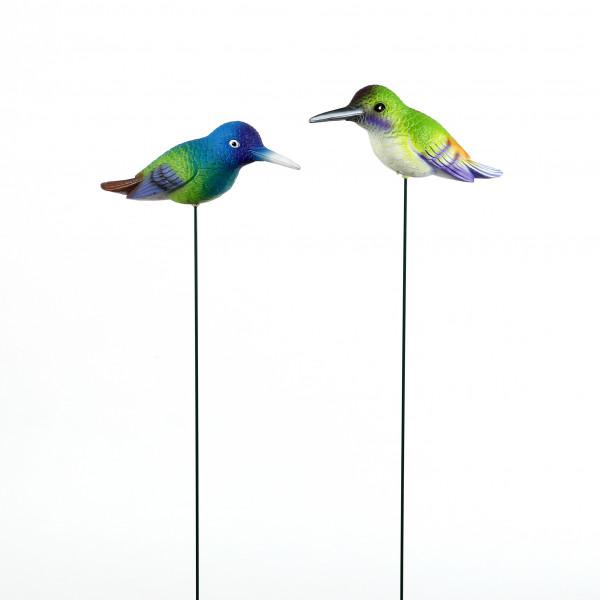 Gartenstecker Tropical bird, bunt 23x9x69cm, Kunststoff