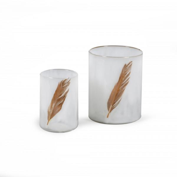 Windlicht Plume Glas 10x10x13 cm