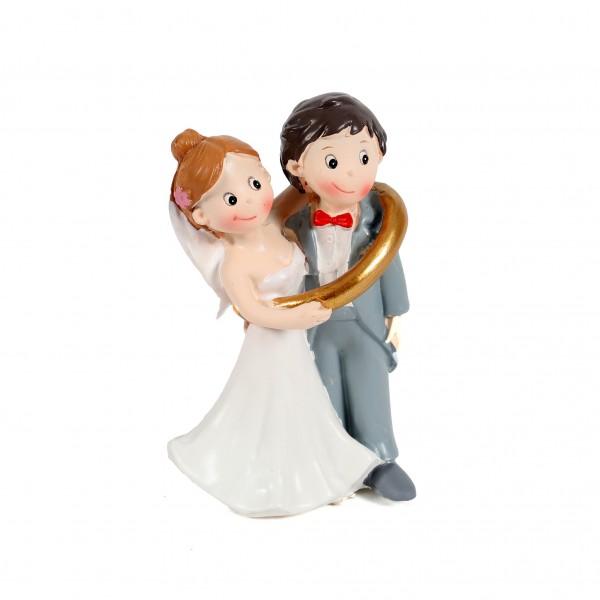 Hochzeitspaar im Ring ca. 8 cm