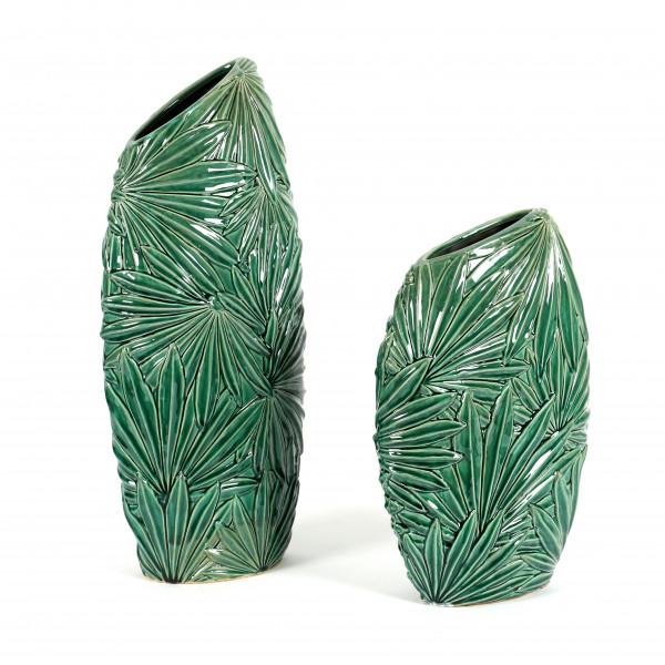 Keramik-Vase, Dschungel design, schlank