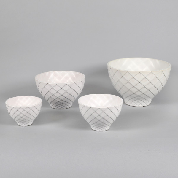 Keramik-Schale m Rauten-Design