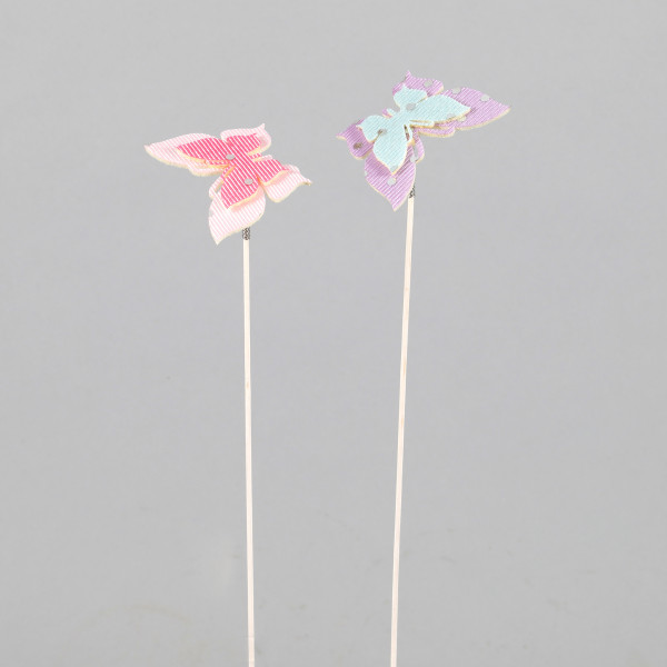Summer dots Schmetterling am Pick 5x6x28 cm 16 Stk. im Beutel