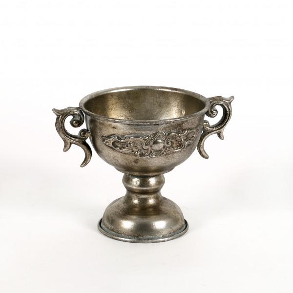 Pokal Midea Metall 13x13,5 cm, antik champagner