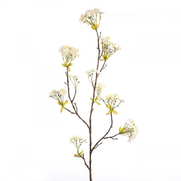 Blütenzweig, 114 cm, weiß